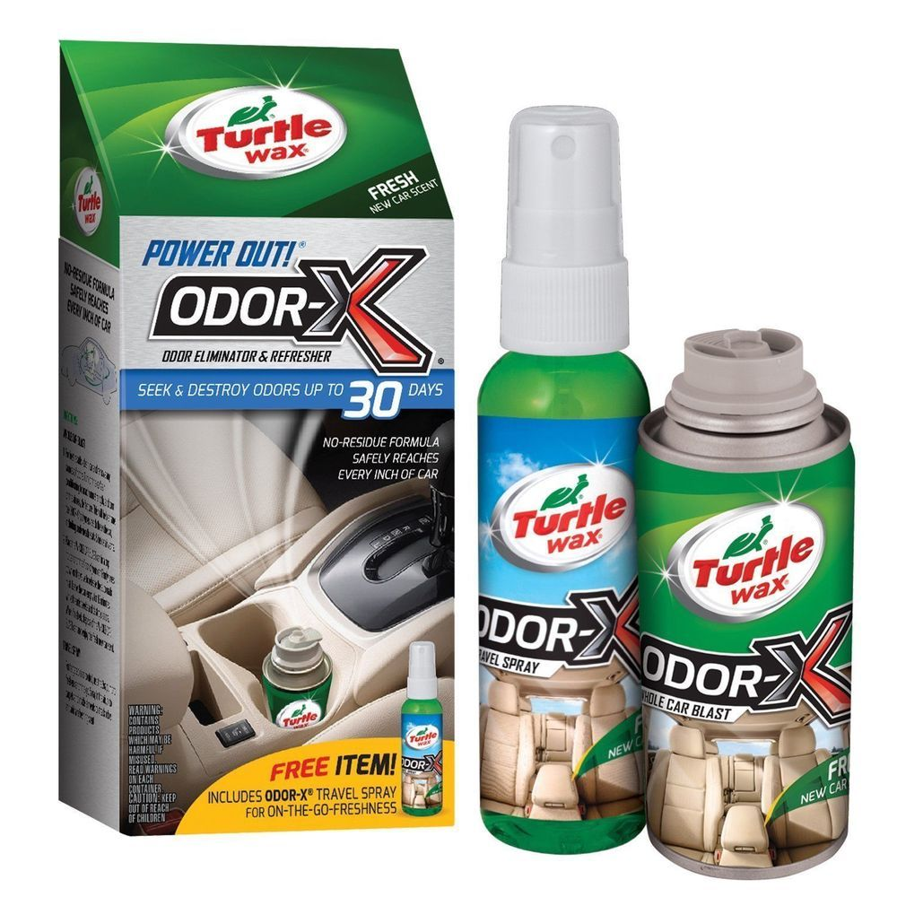 Turtle Wax Odor-X Whole Car Blast Kit Car Bomb & Air Freshener New