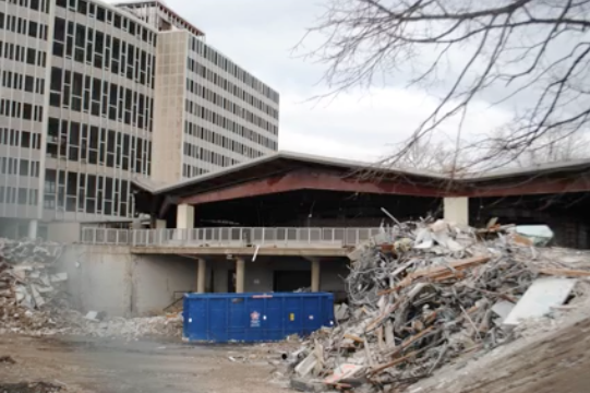 Feeney Dining Center Decommissioned With The Rest Of South Campus In 2012 Is Finally Coming Down Deconstruction Will Then Residence Hall House Styles Campus