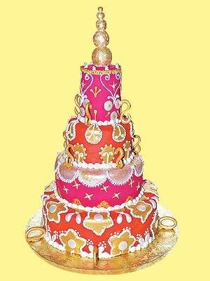 Bold Colors With Gold Moroccan Wedding Cake Keywords Weddings Jevelweddingplanning Follow Us