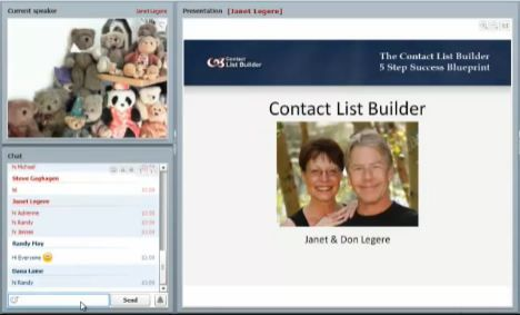 Contact List Builder with Janet 4 Don Legere - 5 Steps to Success - contact list