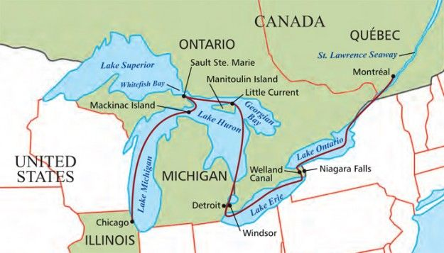 chicago great lakes map New Cruise Ship Set To Sail The Great Lakes This Summer Great Lakes Cruises Great Lakes Ships Cruise Ship Names chicago great lakes map