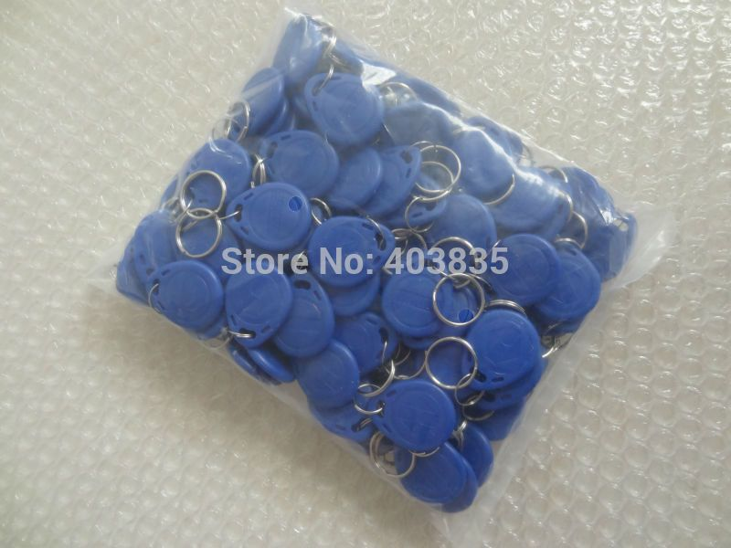 No 2 100pcs 125khz Rfid Proximity Keyfobs Ring Access Control Card Rfid Red Yellow Blue Optional Tags Oem Access Control Red Yellow Rfid