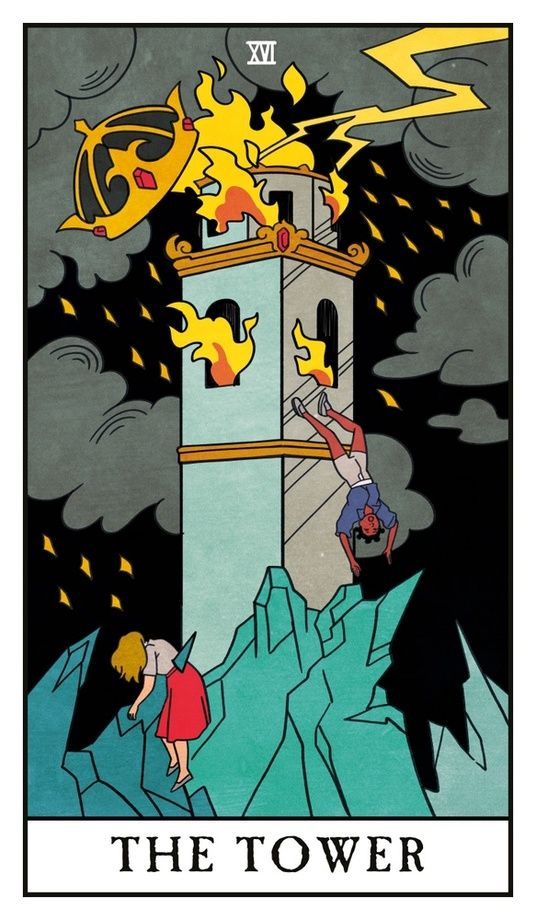The Tower - The Modern Witch Tarot, an art print by Lisa Sterle #modernwitch