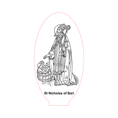 St Nicolas of Bari 3d illusion lamp vector file for CNC - 3bee ...