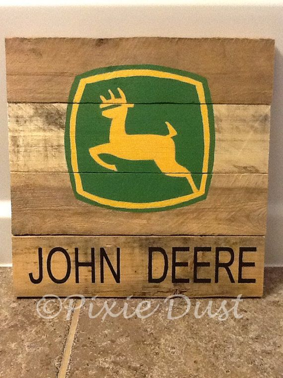 John Deere pallet board logos. The size and saying can be customized ...