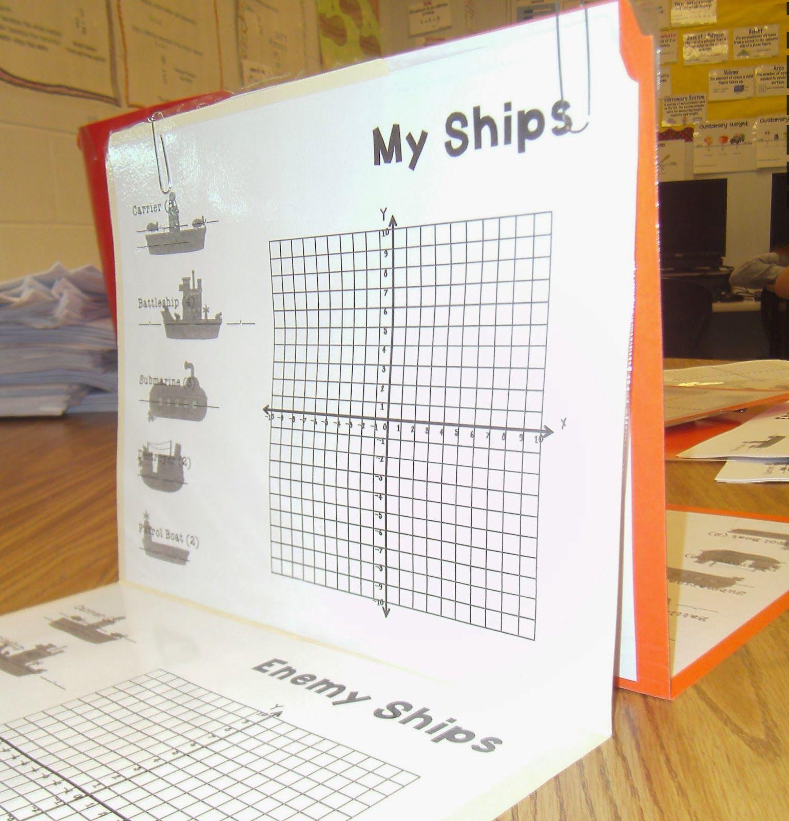 Using A Cartesian Plane To Play Battleship