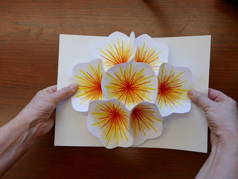 How to make a bouquet flower popup card pop up flower