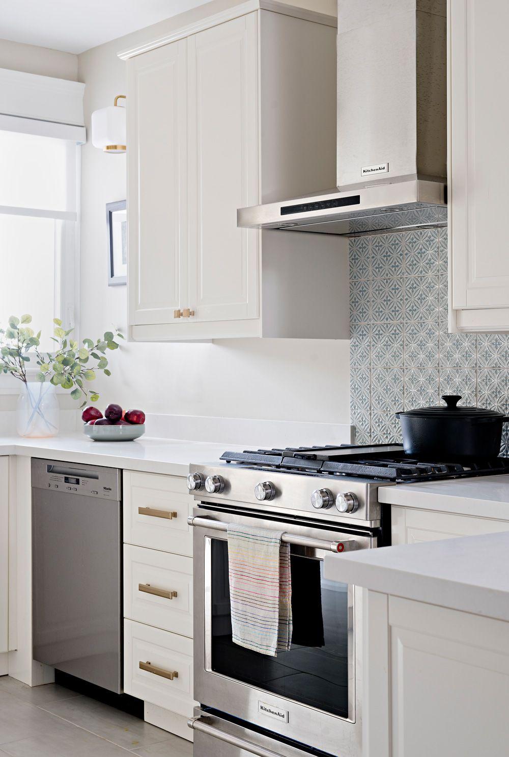 Stainless Steel Kitchenaid Appliances In Stunning White Ikea