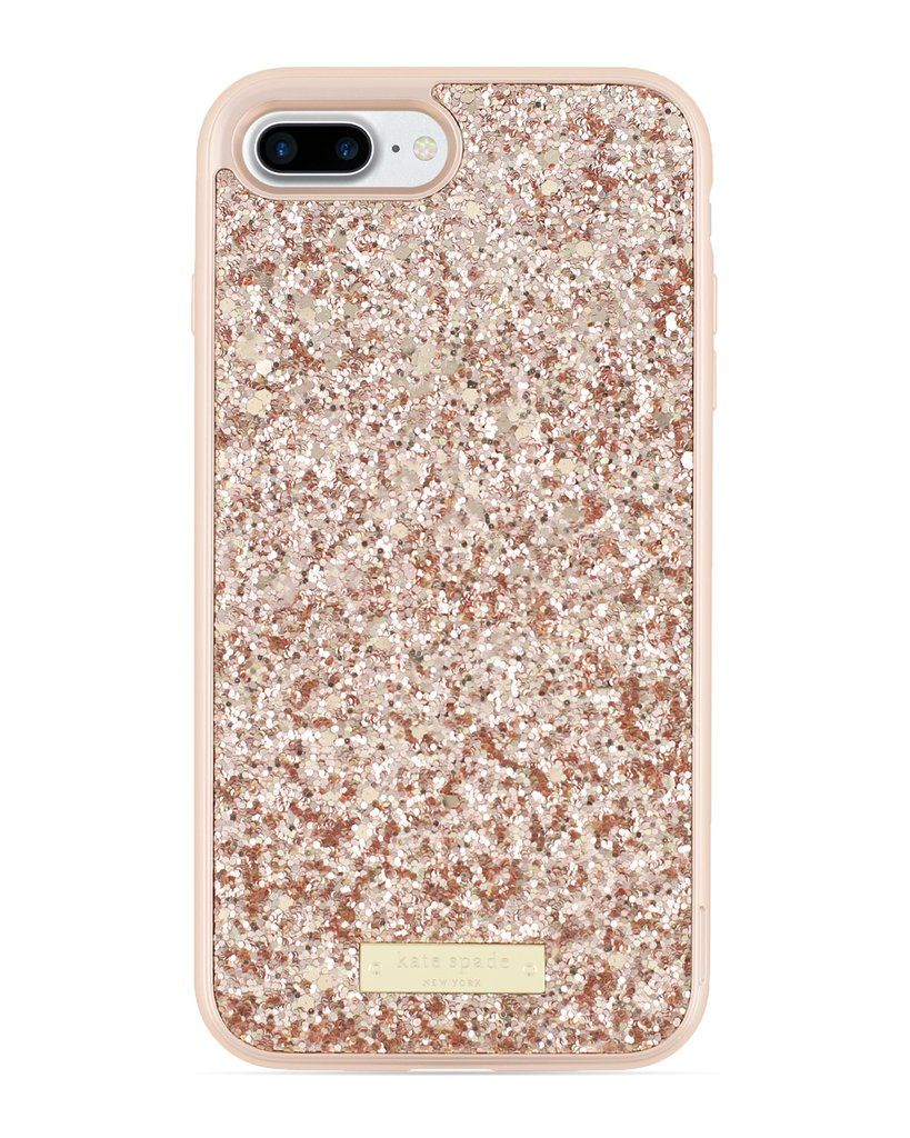 Kate Spade New York Rose Gold Exposed Glitter Case For Iphone 7 Plus Glitter Phone Cases Phone Case Accessories Phone Cases