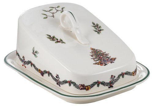 Spode Disney Christmas Tree 7-Inch Cheese Wedge And Cover