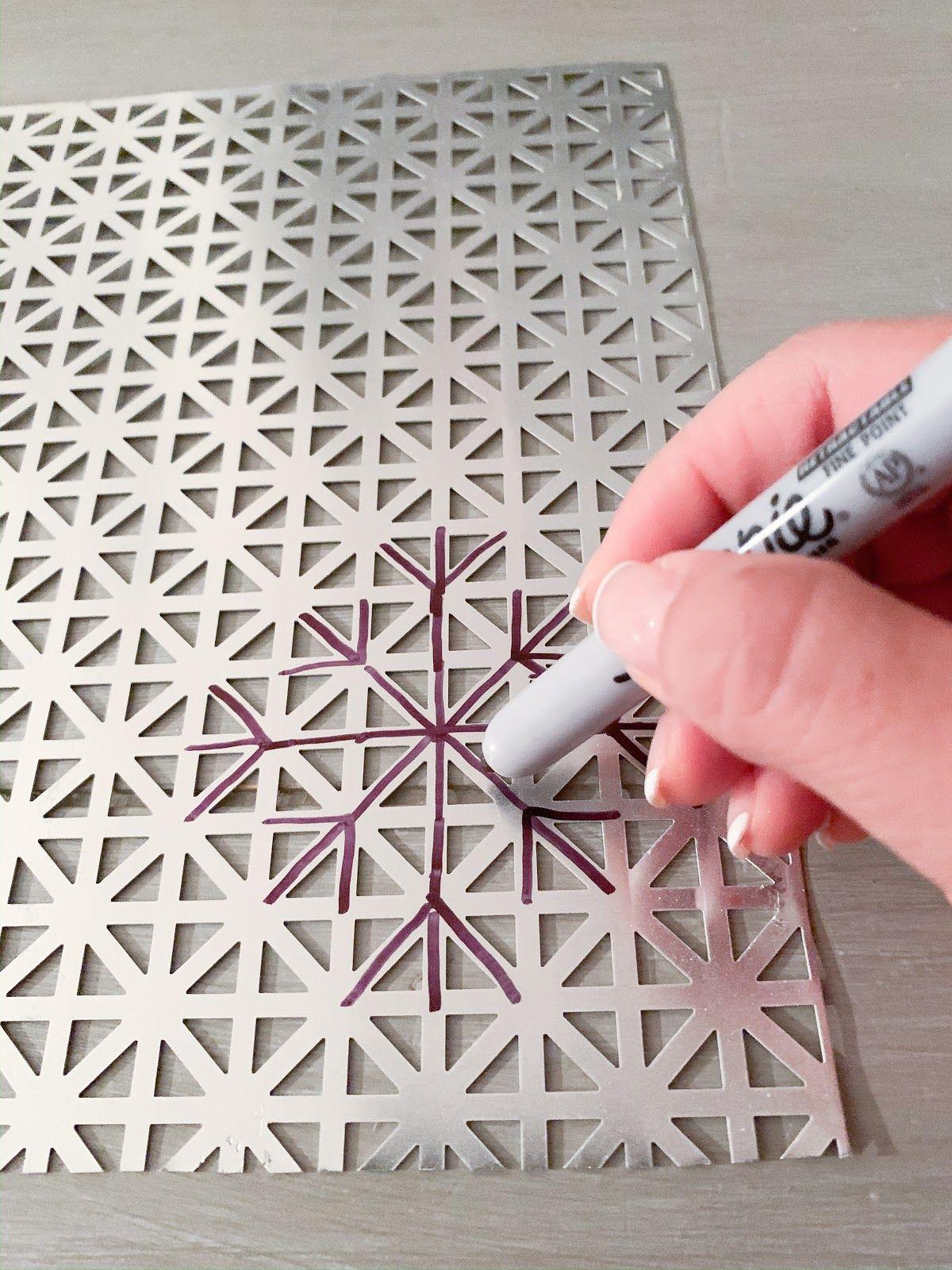 DIY Metal Snowflake Ornaments in 2020 Diy metal