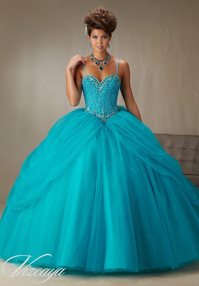 Quinceanera Dress Vizcaya Morilee 89071 Beaded, boned corset ...