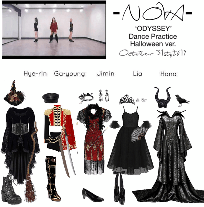 Nova Odyssey Dance Practice Halloween Ver Outfit Shoplook Dance Outfits Practice Kpop Fashion Outfits Kpop Costume