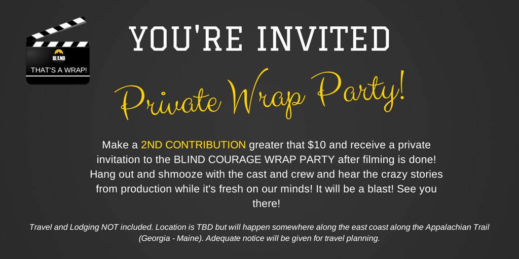 It Works Wrap Party Invitation Fresh Blind Courage The Movie Party Invitations Birthday Party Invitation Wording Party Invite Template