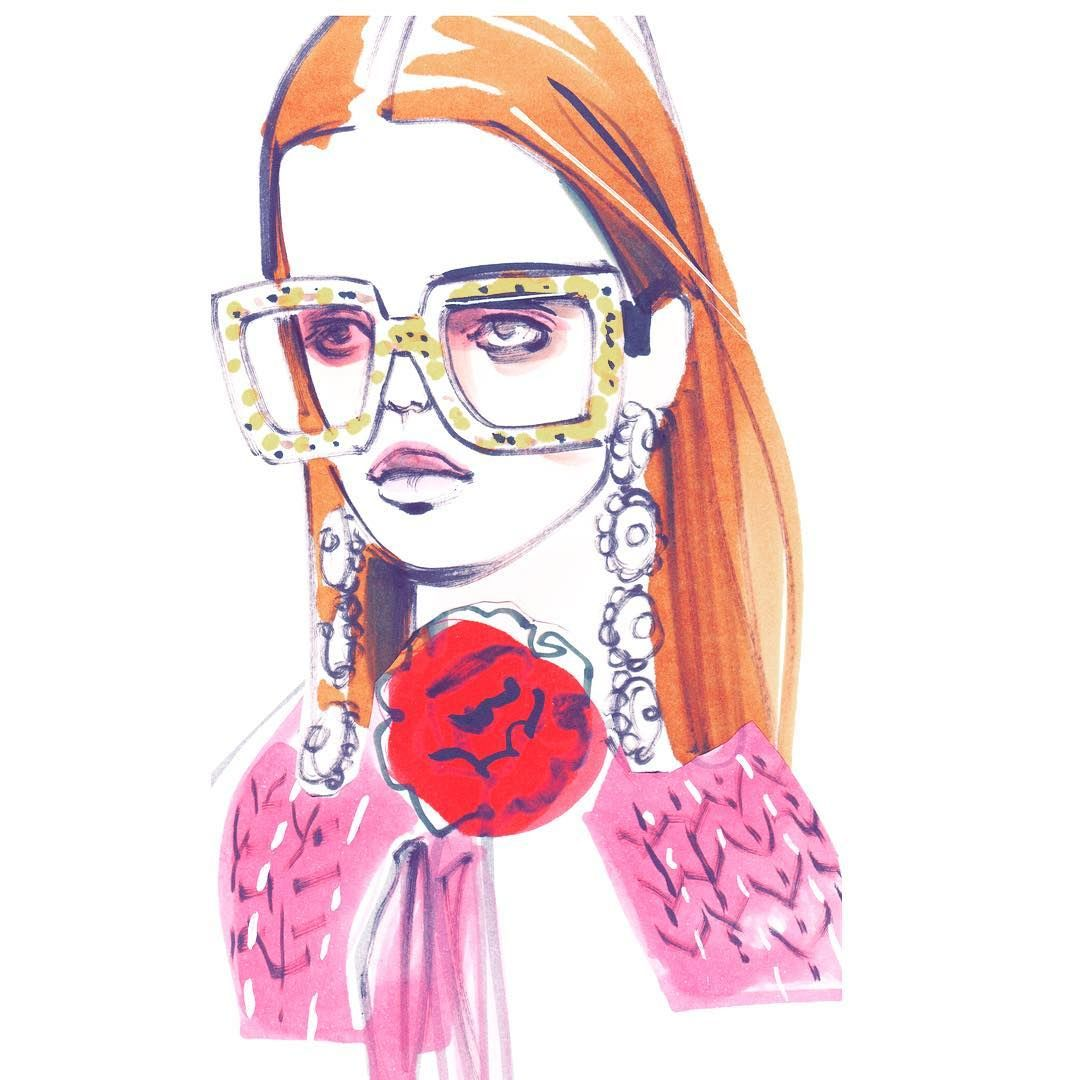 #gucci #glasses #illustration #drawing #sketch #attitude #model #fashion #fashionista #fashiondrawing #fashionillustration #fashionweek #instafashion #glitter #sunglasses  #fashionweek #style #lifestyle
