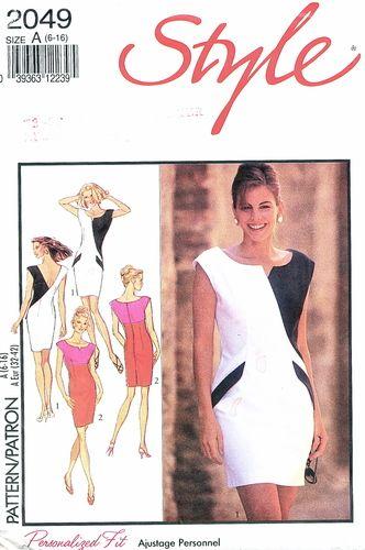 Style Pattern 2049 Amazing Slim Sleeveless Color Block Dress   What-I-Found
