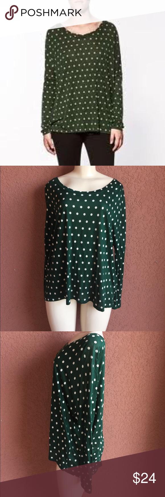 Zara Bayan Bluz Top 5584 254 098 Rn 77302 Zara Bayan Bluz Top Green Polka Dot Shirt With A Zipper On Back The Zipper Doe Zara Tops Polka Dot Shirt Fashion