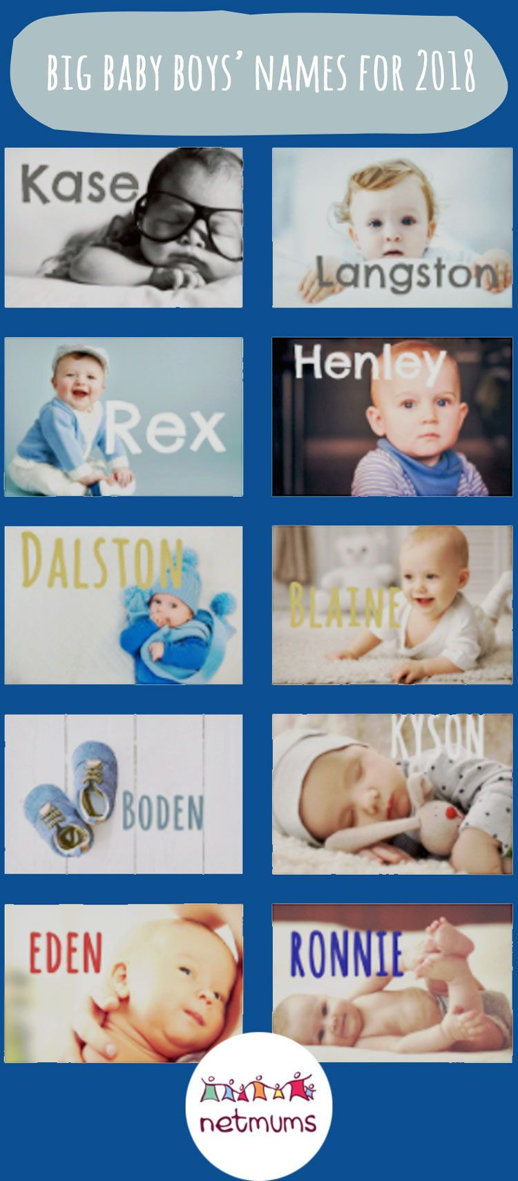 Baby boys' names we predict will be huge
