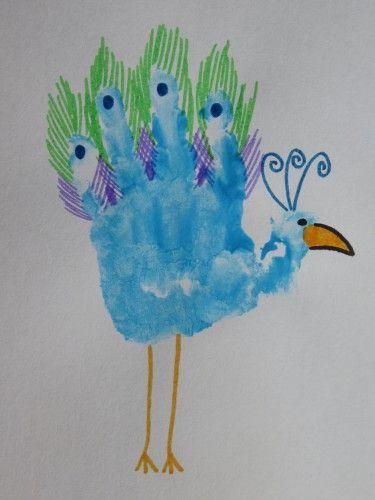 Mooie Pauw Axenweek Pinterest Basteln Handabdruck En