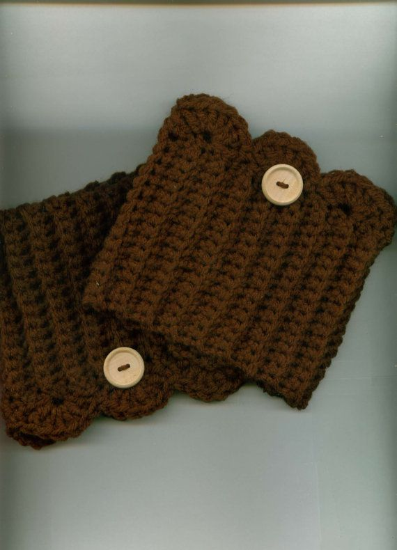 Crocheted Boot Cuffs/Toppers Skate Cuffs/Toppers DK by Kountry, $13.00