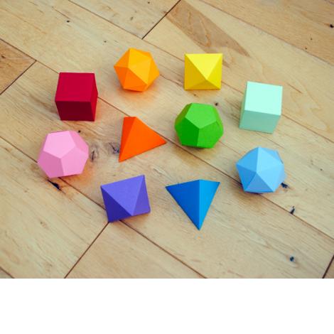 bastelanleitungen mit papier prismen und andere geometrische formen crafts for with kids. Black Bedroom Furniture Sets. Home Design Ideas