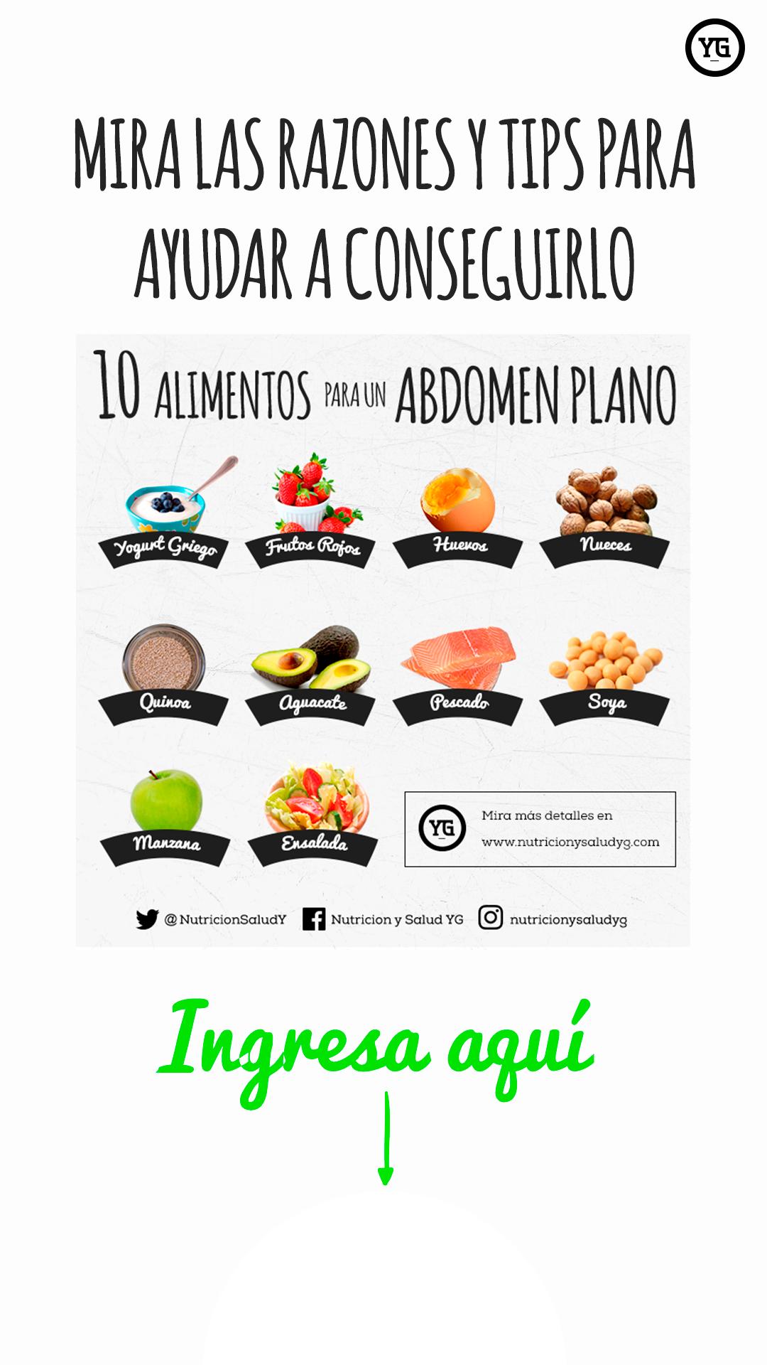 alimentación para adelgazar abdomen