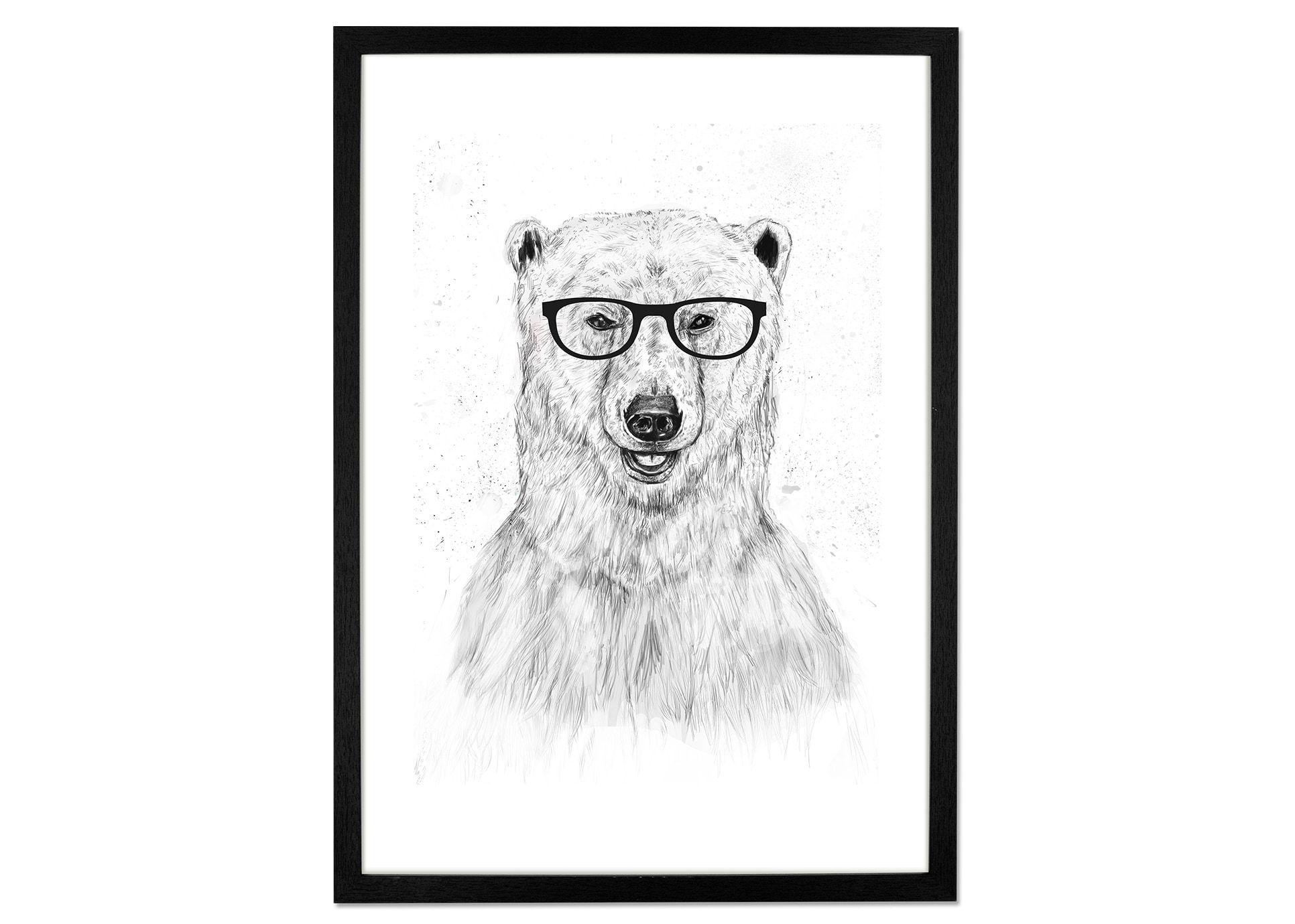 Geek Bear von Balazs Solti, 42 x 59cm (A2) Gerahmte Kunstdrucke ...