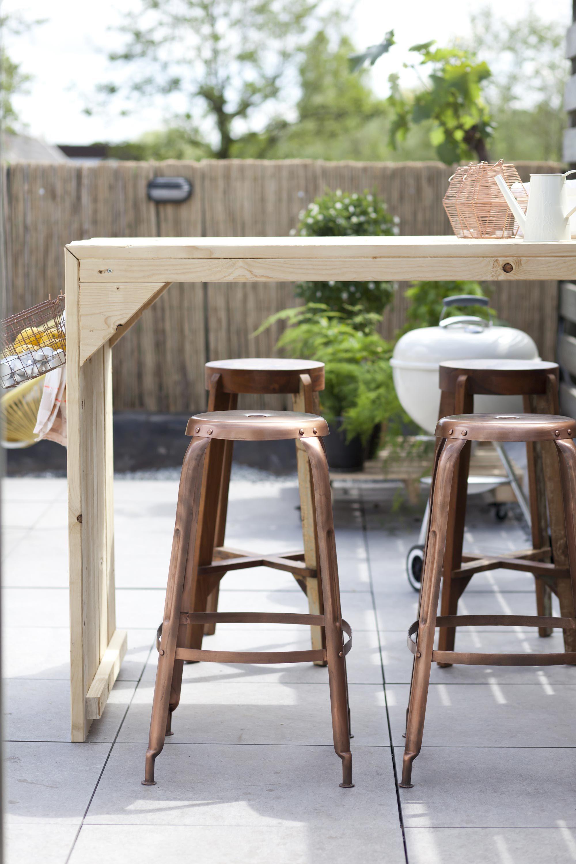 Spiksplinternieuw Buiten borrelen aan de hoge bartafel | Out - Tuin ideeën, Tuin en KE-81
