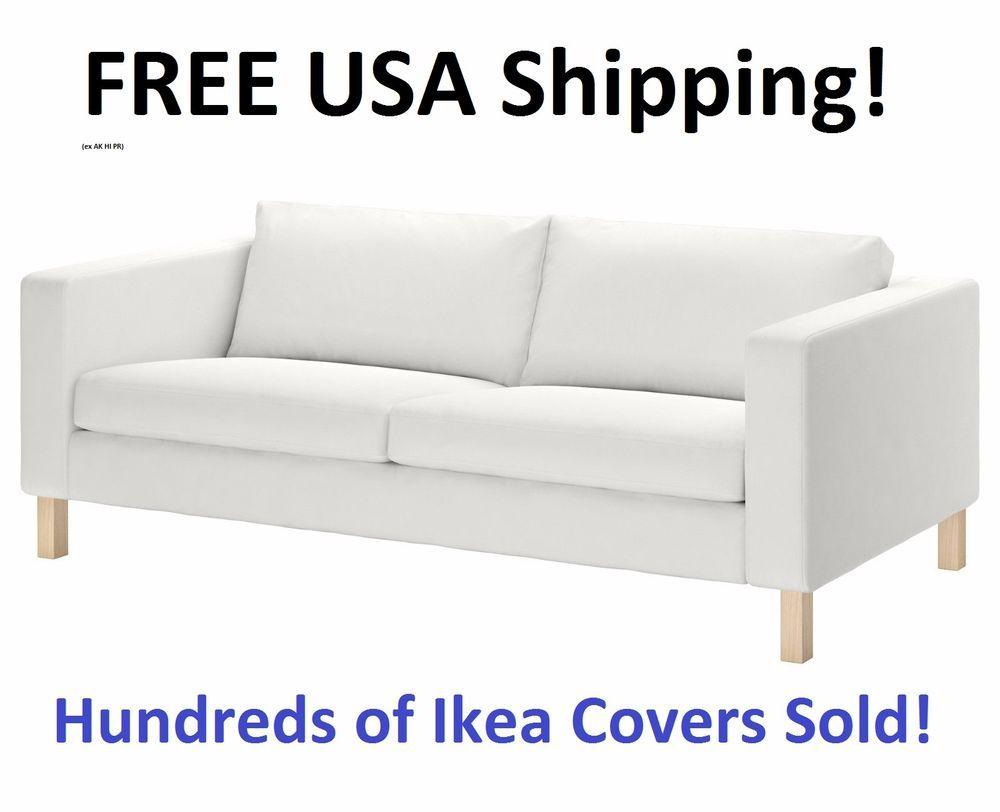 Karlstad Sofa Blekinge White Small Office Ikea 3 Seat Cover Slipcover 001 186 98 New Sealed