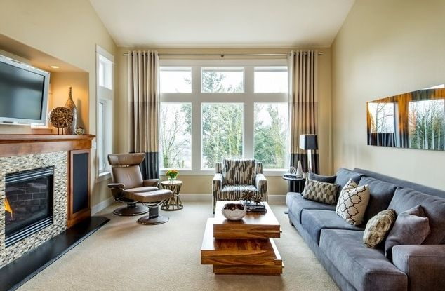 Houzz Smitty Chair And Humphrey Sofa Living Room Scandinavian Living Room Arrangements Bachelor Pad Living Room