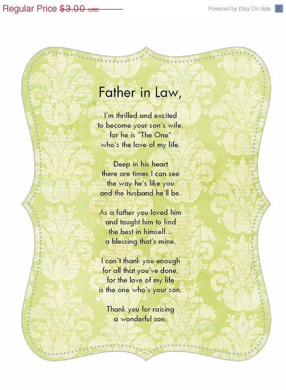 Father in law poem! We can't forget the Dads! I have the ...
