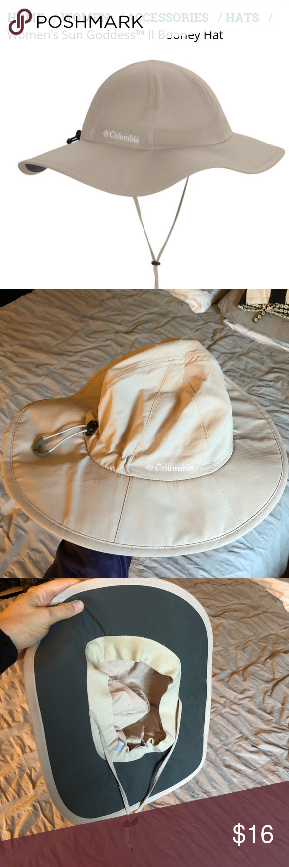 Columbia Sun Goddess II Booney UPF Hat Brand New Never wore this color  (Fossil) 5b97b8bb7c5c