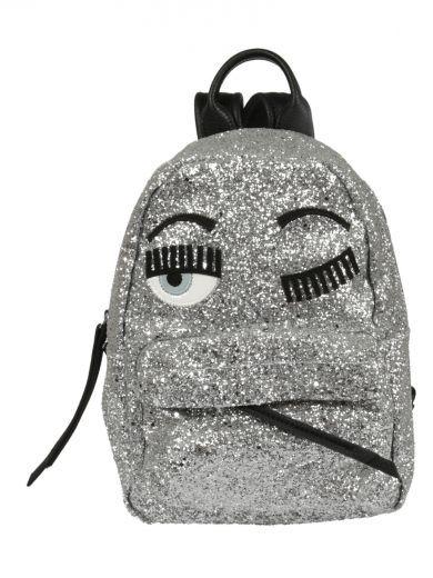 CHIARA FERRAGNI Chiara Ferragni Flirting Glitter Backpack. #chiaraferragni #bags #glitter #backpacks #