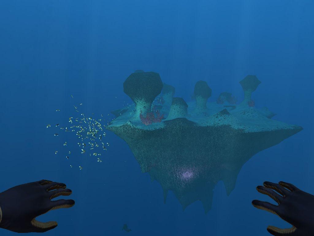 Underwater Floating Island Subnautica Screenshot Alizzay