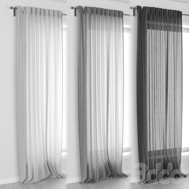 ikea aina curtains 3d models pinterest vorh nge. Black Bedroom Furniture Sets. Home Design Ideas
