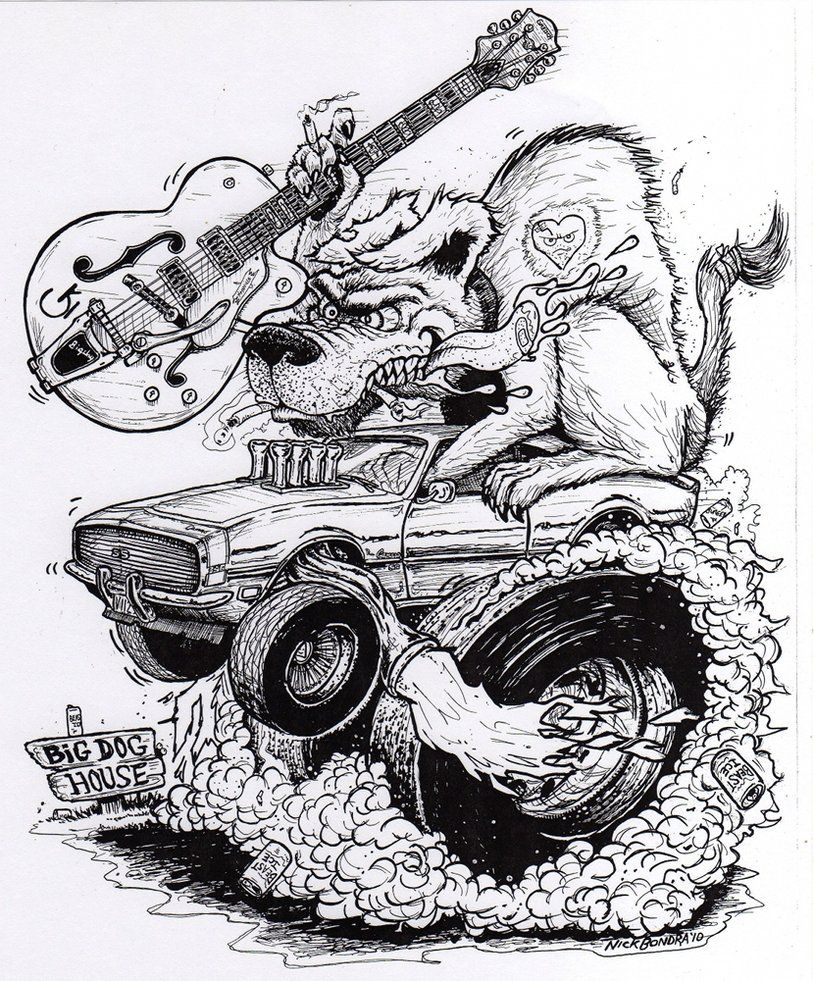 Dog Fink Cool Car Drawings Cars Coloring Pages Cartoon Car Drawing