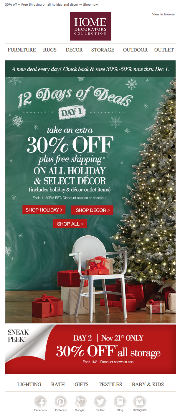 Home Decorators Collection email 2014 | Christmas campaign ...