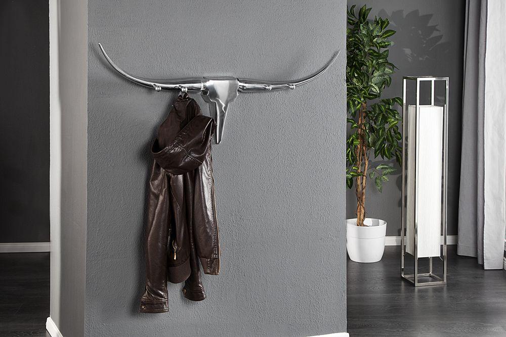Design Garderobe BULL 100cm Aluminium Wanddekoration