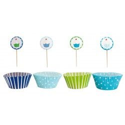 JaBaDaBaDo Cupcake Set in blau