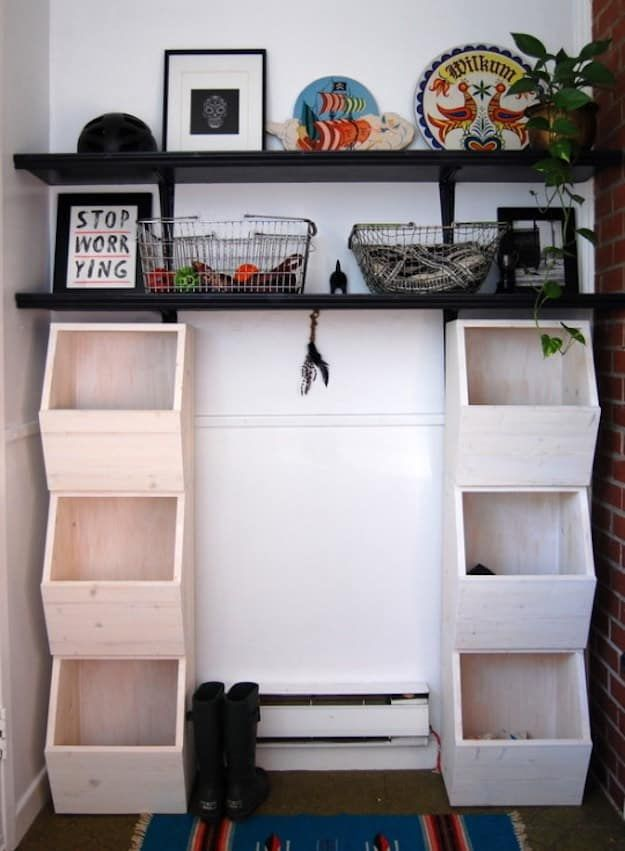Honeycomb Storage Bins Easy Diy Wood Projects For Small Es