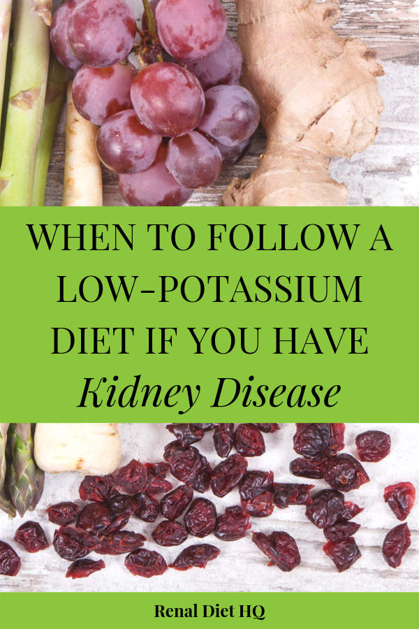 A Low Potassium Menu For When Levels Are High Renal Diet