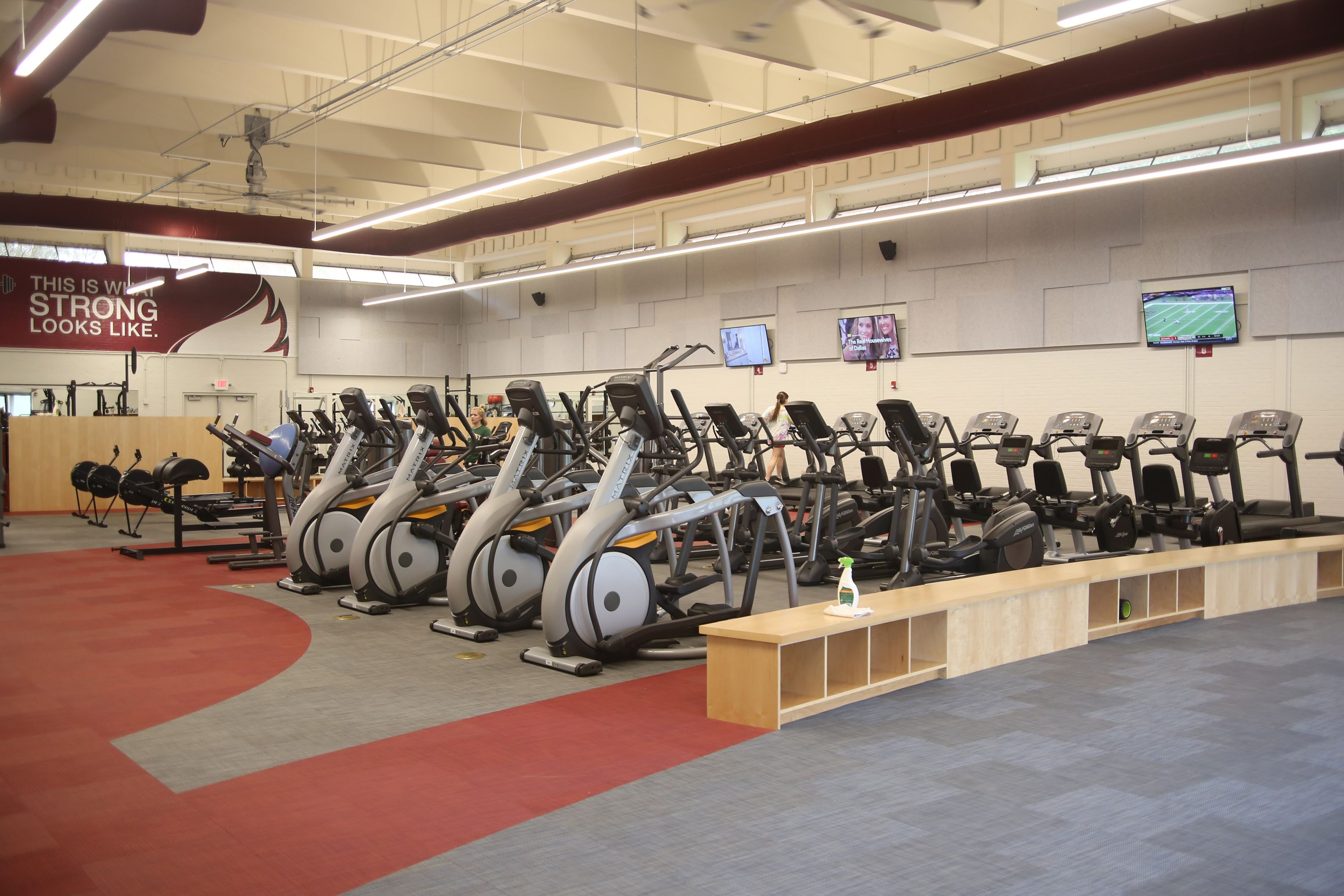 We Are Proud To Say That We Installed The Flooring For The New Fitness Center At Meredith College Flooring Dickson Woven Dickson Gym Design Dickson Constant