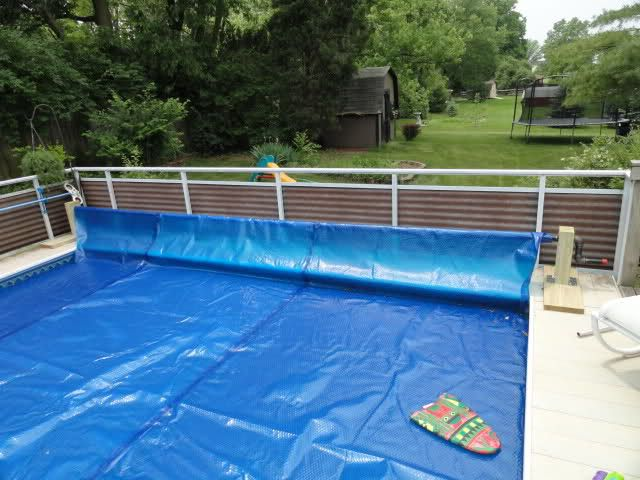 Diy pool cover reel system tips general diy discussions - How to make your own swimming pool heater ...