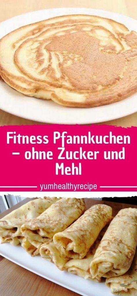 Fitness-Pfannkuchen - ohne Zucker und Mehl - gesunde Rezepte -  Fitness-Pfannkuchen – ohne Zucker un...