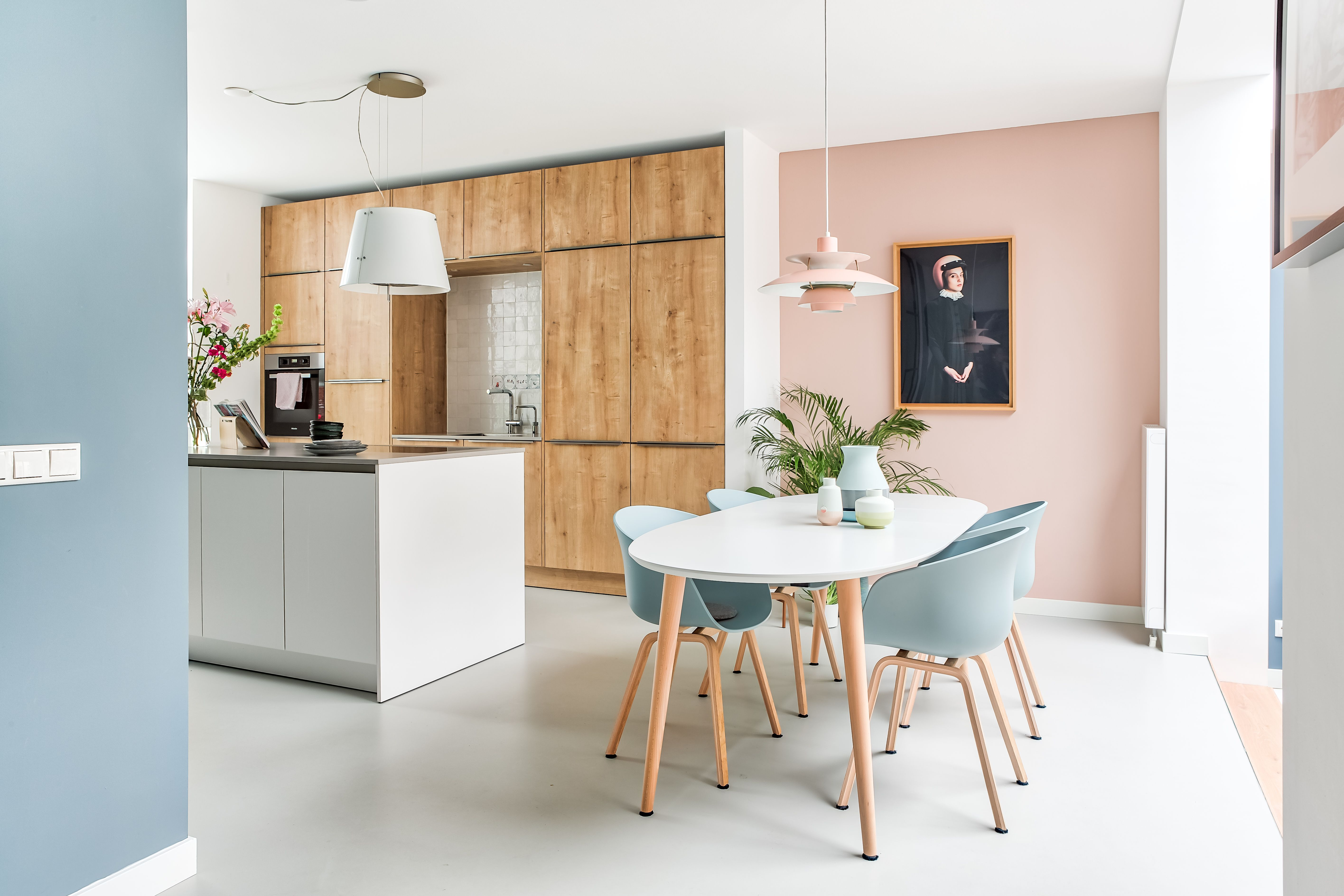 Color Kitchen Utrecht.Studio Binnen Interior Design Portfolio Project Utrecht