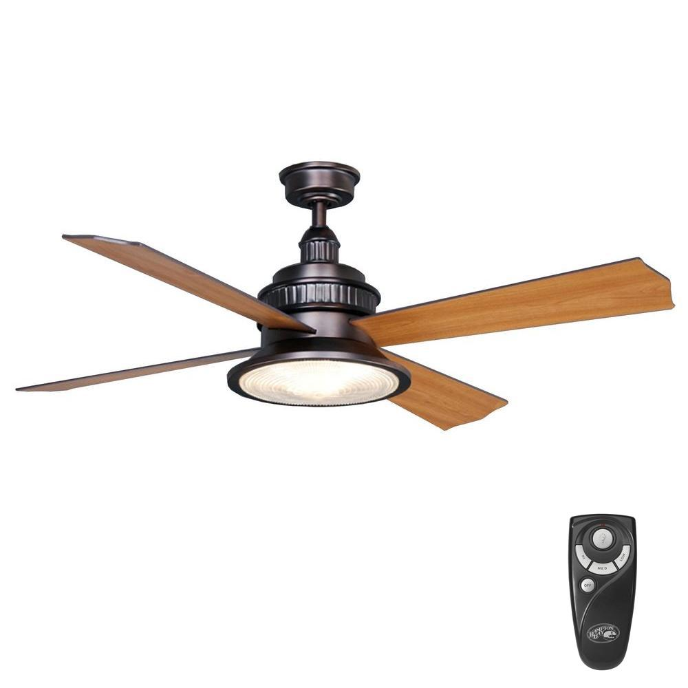 Hampton Bay Valle Paraiso 52 In. Indoor Oil-Rubbed Bronze