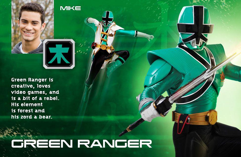 MMPR Power Rangers Super Samurai Green RANGER Action Figure
