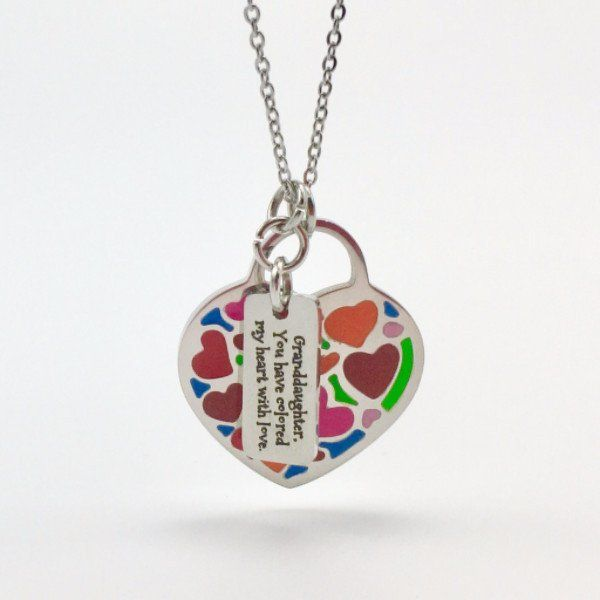 Granddaughter, You Colored My Heart With Love - Necklace