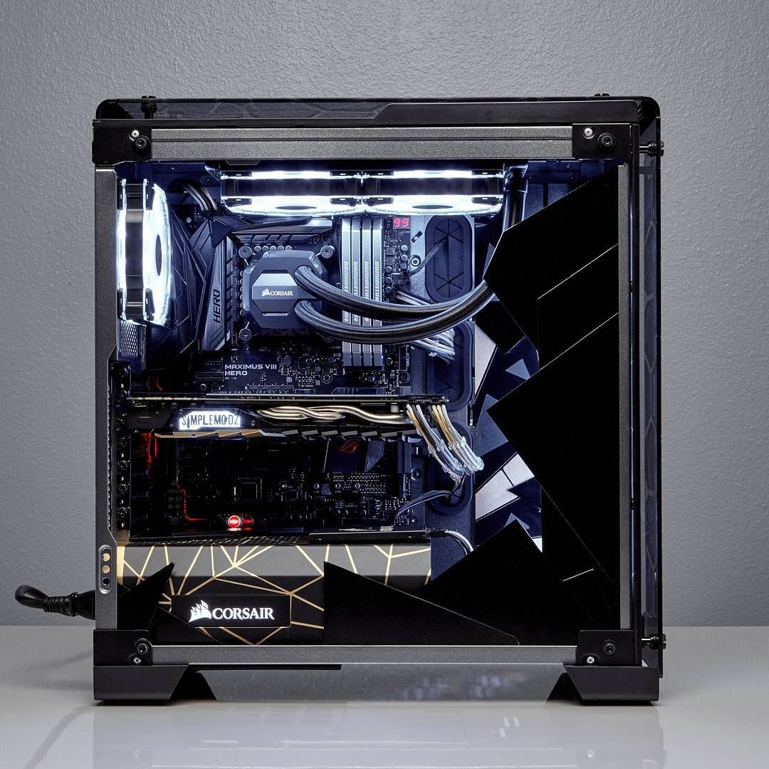 Via Corsair Hello Gorgeous This Is One Sick 570x Mod Made By Simplemodz We Especially Love That Power Supply Shroud Rigs Technik