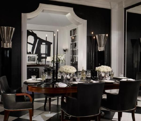 Homysphere Com Blog Archive Black Dining Room For Enthusiasts Contrasting C Black Dining Room Black And White Dining Room White Dining Room Black and white dining room